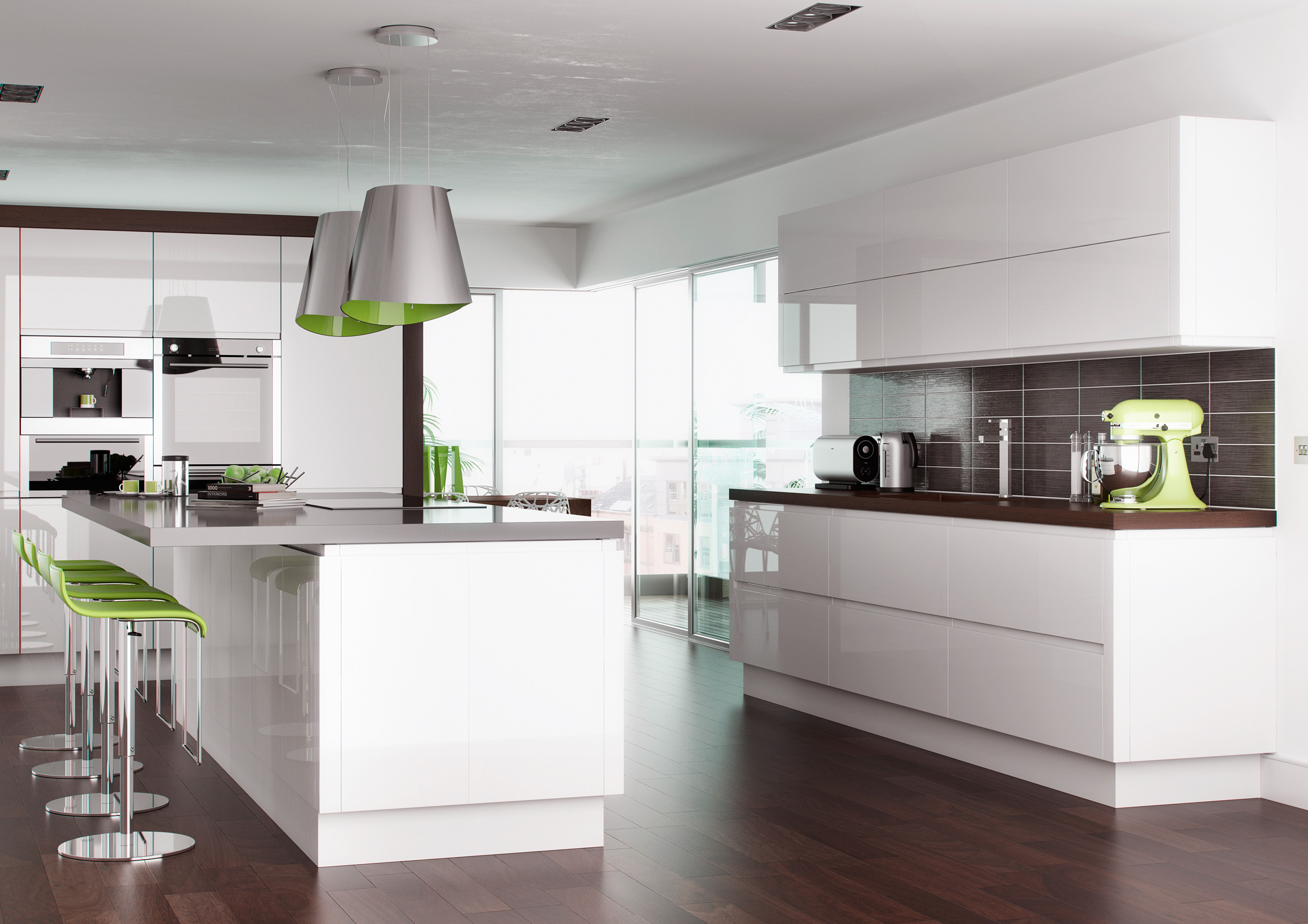 Senza Handleless High Gloss White