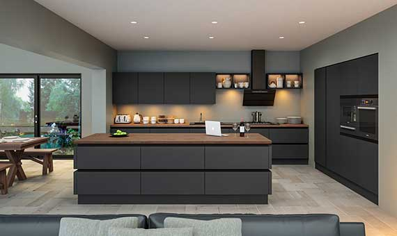 picture of a true handleless kitchen